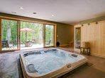 Sunken Hot tub and real Steam Sauna