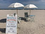 Use of private beach. Amenities available or use our 4 beach chairs, umbrella and caddy!
