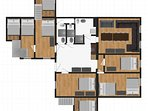 Layout of the 6 Bedroom Apartment