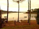 Le lac marin à 200 mètres de la villa
