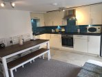 Fully fitted kitchen with Delonghi machine for coffee lovers! Fresh eggs, Milk, loaf provided.