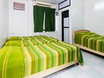 The rooms are large, well-furnished and Air-conditioned. All rooms have attached bathrooms