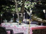 Outdoor Lunch or Dinner setup