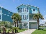 Gorgeous ocean side retreat with ocean and Galveston bay views from three different decks