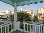 Front deck with peek-a-boo views of the Gulf of Mexico.