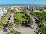 Aerial view of the Pointe West Beach Club.