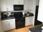 Kitchen recently updated. Granite counter tops