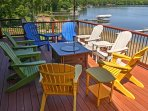 Look forward to lounging on the spacious deck and patio.