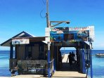 Water taxi service to West Bay Beach