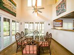 Dining room surrounded by screen porch - seating for 6.