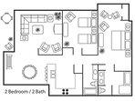 2 Br Garden View Floor Plan
