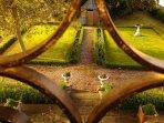 Vue sur le jardin à la française