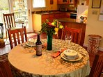 Arcata Stay's Forest View Stay studio vacation rental dining area