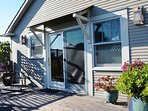 Arcata Stay's Forest View Stay studio vacation rental entrance