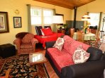 Arcata Stay's Forest View Stay studio vacation rental convertible sofa