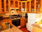 Arcata Stay's Forest View Stay studio vacation rental kitchen