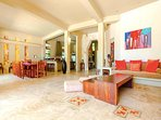 Riviera Maya Haciendas, Villa Alma Rosa - The Living Room With Ocean View