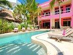 Riviera Maya Haciendas, Villa Alma Rosa - Villa Facade Beachfront