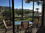 Breakfast or dinner from the lanai overlooking the pool, hot tub and beautiful sunsets!
