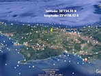 google earth location