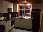 Well equipped modern kitchen with appliances and a range of self catering essentials