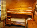 Bunk beds sleep 2, great for young kids or big kids