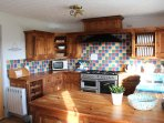 Large fully fitted Kitchen with sea and countryside views