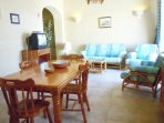 Other side of DUN NASTAS holiday house living area