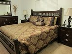 Master king bed. Walk-in closet. Master bath with shower. TV with DVD player
