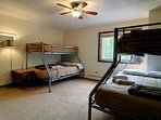 Bedroom 3A features two twin over full bunk beds. (sleeps 6)