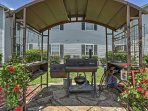 Utilize the community charcoal  grill to cook your favorite meals outside.