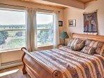 Get your best night's sleep in this plush queen bed.