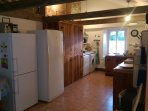 Kitchen with  cathedral ceilings, 2 refrigerators