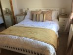 Bedroom 1 -double bed with sliding mirror wardrobes.