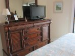 Dresser in Master showing 32' HD TV
