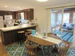 View of open kitchen-Dining to sunroom-13 Marlin Road South Harwich Cape Cod New England Vacation Rentals