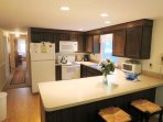 Breakfast bar and view to hall -13 Marlin Road South Harwich Cape Cod New England Vacation Rentals