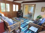 Sunroom with TV-13 Marlin Road South Harwich Cape Cod New England Vacation Rentals