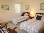 Bedroom 2 with 2 Twin Beds-13 Marlin Road South Harwich Cape Cod New England Vacation Rentals