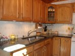 Kitchen with granite