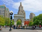 Washington Square Park is a public park in the Greenwich Village neighborhood of Lower Manhattan, NY