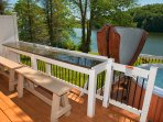 Large granite bar on deck with awesome views