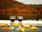 Come relax at the bar and take in the fall foliage