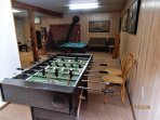 Foosball, pocket pool, and Wii