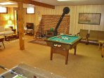 Downstairs Rec/TV Room with Wood Stove - Game Area