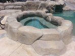 Relaxing private hot tub