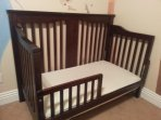 Bedroom 3, crib/toddler bed, converts to either.