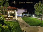 This garden and swimming pool won the competition for the most beautiful garden in Zrnovnica.