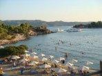 Hinitsa beach 5 minutes drive from the villa