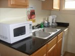 Your home away from home with dishwasher, microwave, coffee maker, full refrigerator